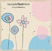 Vector pastel background card 3
