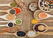 stock photo of soya beans  - various food ingredients  - JPG