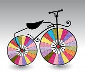 artistic vintage bicycle