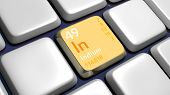 stock photo of indium  - Keyboard  - JPG