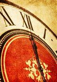 midnight on vintage clock
