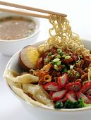 Chinese Egg Noodle with pork and wonton
