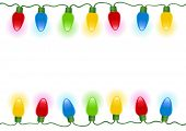stock photo of christmas lights  - Christmas lights isolated - JPG