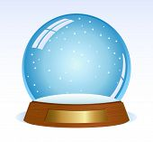 Empty vector snowglobe. Ready for your design.