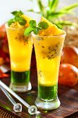 refreshing passion fruit orange juice