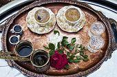 Traditonal Turkish Coffee With Rose