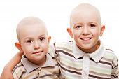 Shaved Heads Children Smiling