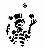 Juggling Clown Illustration - third in a series