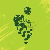 pic of mummer  - Clown Illustration Series - JPG