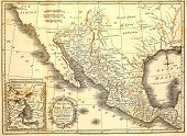 Map Of Mexico Dated 1821.