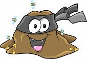 stock photo of turds  - Vampire Ninja Turd bandit Vector Art Illustration - JPG