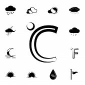 Celsius Icon. Detailed Set Of Weather Icons. Premium Graphic Design. One Of The Collection Icons For poster
