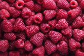 Full Frame Shot Of Raspberries. Fresh Organic Raspberry. poster