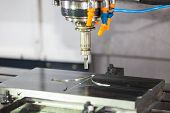 Cnc Machining Center Cutting Mold poster