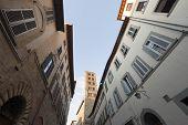 Medieval Street In Arezzo (tuscany, Italy)