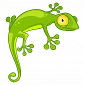 Cartoon Character Lizard Isolated on White Background. Vector.