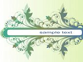 vector abstract floral pattern colorful frame