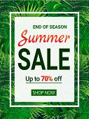 Sale Banner With Text. End Of A Season Discount Poster. Special Offer Coupon. Seasonal Promotion Adv poster