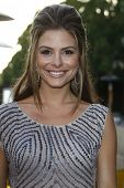 LOS ANGELES - JUNE 16: Maria Menounos at the premiere of 'Entourage' held at Paramount Studios on Ju