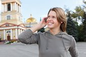 Beautiful woman calling on mobile phone