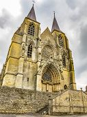 The Building Of Basilica Of Our Lady In Avioth, France poster