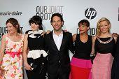 LOS ANGELES - AUG 16:  Kathryn Hahn, Zooey Deschanel, Paul Rudd, Rashida Jones, Elizabeth Banks at the