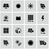 Solar energy icons set.