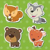 Cute Animal Stickers 07