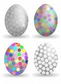 Vektor-Illustration mit verzierten Eier