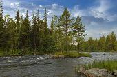 Keret River In Karelia.