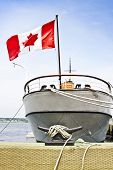 Canadian Boat At Harbor