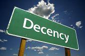 Señal de tráfico de decencia