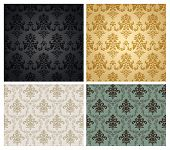 Seamless flourish wallpaper pattern