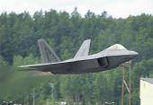 Fighter F-22 Raptor In Airshow
