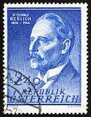 Postage stamp Austria 1958 Oswald Redlich, Historian