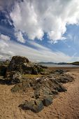 stock photo of anglesey  - Cloud Formation and Rocks - JPG
