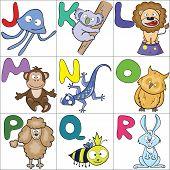 Alphabet With Cartoon Animals