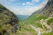 Rainbow In The Valley Trollstigen. Norway