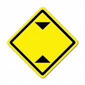 Blank Height Limitation Traffic Sign