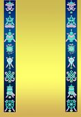 tibetan Background with 8 auspicious symbols