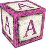 Alpha Block A Pink