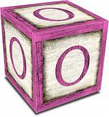 Alpha Block O Pink