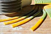 Butternut-Kürbis und Spinat fettucini