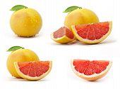 Sammlung von grapefruit