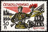 Postage stamp Czechoslovakia 1965 Liberation from the Nazis
