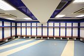 MADRID - MARCH 8: Cloakroom in Santiago Bernabeu Stadium - arena of soccer club Real Madrid, March 8