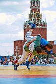 MOSCOW - MAY 27: First All-Russian tournament on Russian traditional struggle For Collar, dedicated