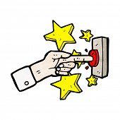 cartoon ringing doorbell