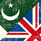 English and Pakistani grunge Flag. this flag represents the relationship  between UK and Pakistan.