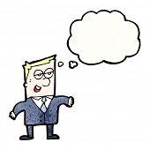 cartoon smug businessman